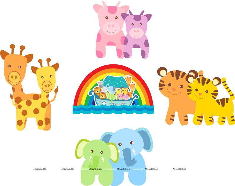 Noah's Ark Party theme Posters pack of 5