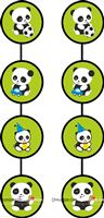 4 ft Cute Panda danglers (Pack of 2)