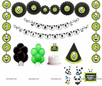 Panda theme Paper Fan Party Kit