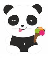 Panda with candy poster