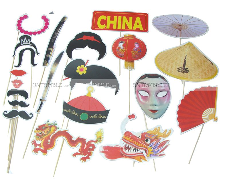 Chinese theme photo props