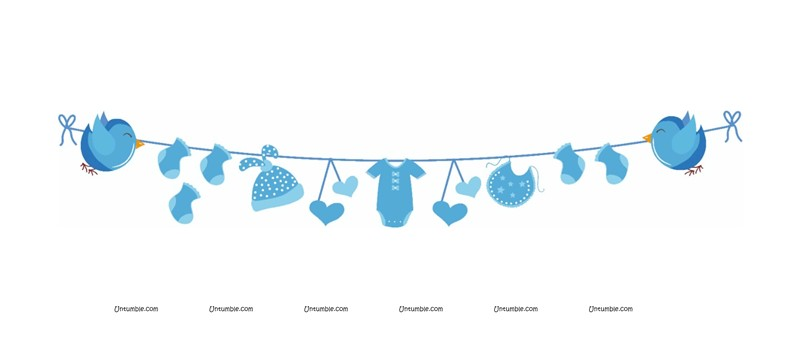Welcome Door Bunting (Blue)
