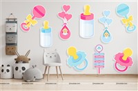 Wall posters - Pink & Blue Baby Shower