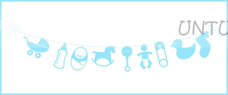 Baby elements bunting (Blue)