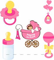 Baby Shower Decor theme Posters pack of 5