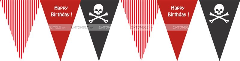 Pirate triangle bunting