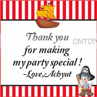 Little Pirate Thank you cards