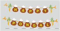 Happy Pongal Bunting Banner