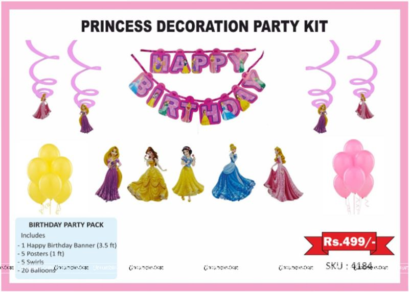 Princess Birthday theme Party kits