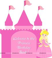 Princess castle welcome board