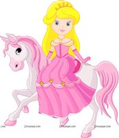 Princess on horse cutout