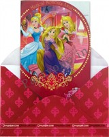 Disney Princess Invitations(set of 10 )