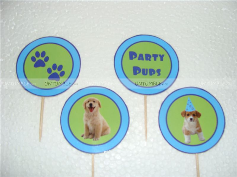 Puppy/Dog party theme Cup cake toppers