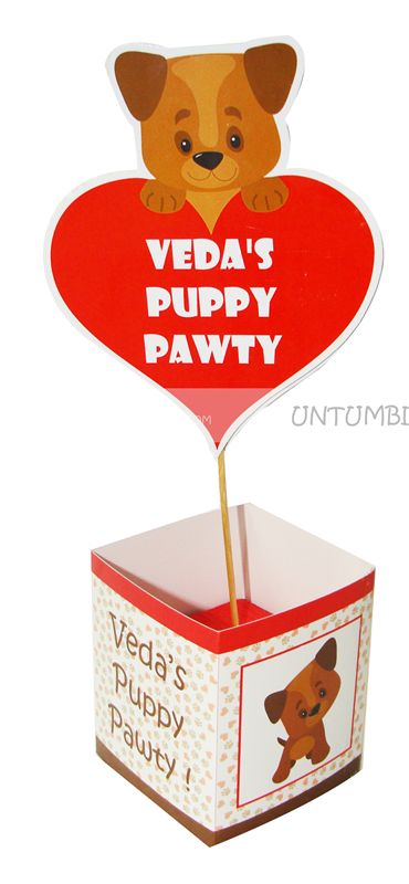 Puppy Pawty Center Pieces