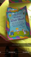 Rainbow theme Wish Book