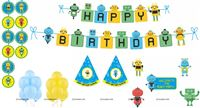 Robot theme Super saver birthday decoration kit (Pack of 58 pieces)