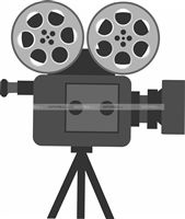 Movie camera cutout
