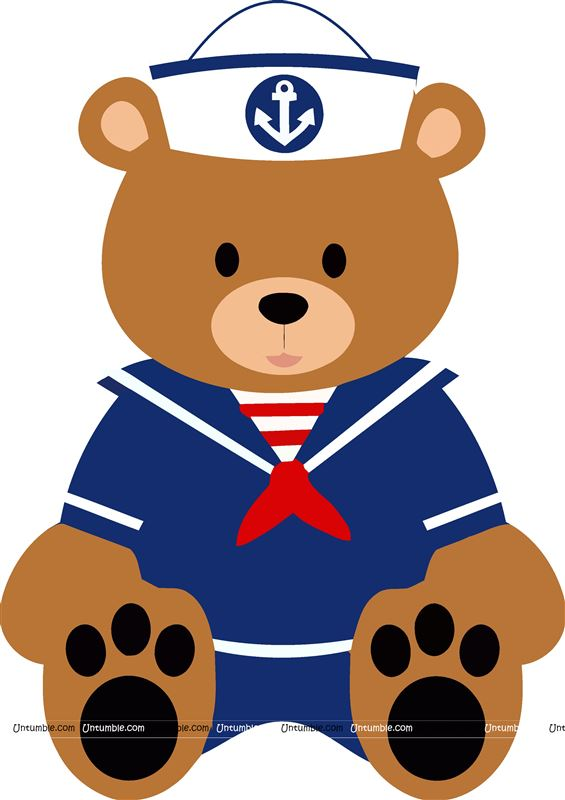 Cute teddy Sailor cutout