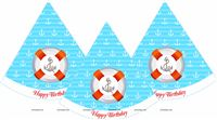 Sailor party Hats (Set of 6)