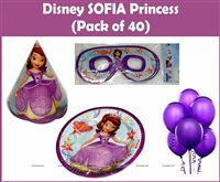 Sofia Princess Party Kit (Pack of 40)