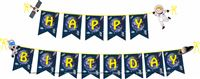Space Birthday theme Happy Birthday Banners