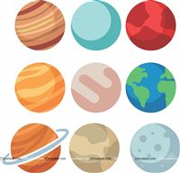 Planet Posters 1 ft each (pack of 9 )