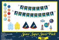 Space Super saver birthday decoration kit (Pack of 58 pieces)
