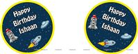Space theme badges