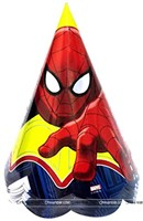 Spiderman Party Caps (Set of 10)