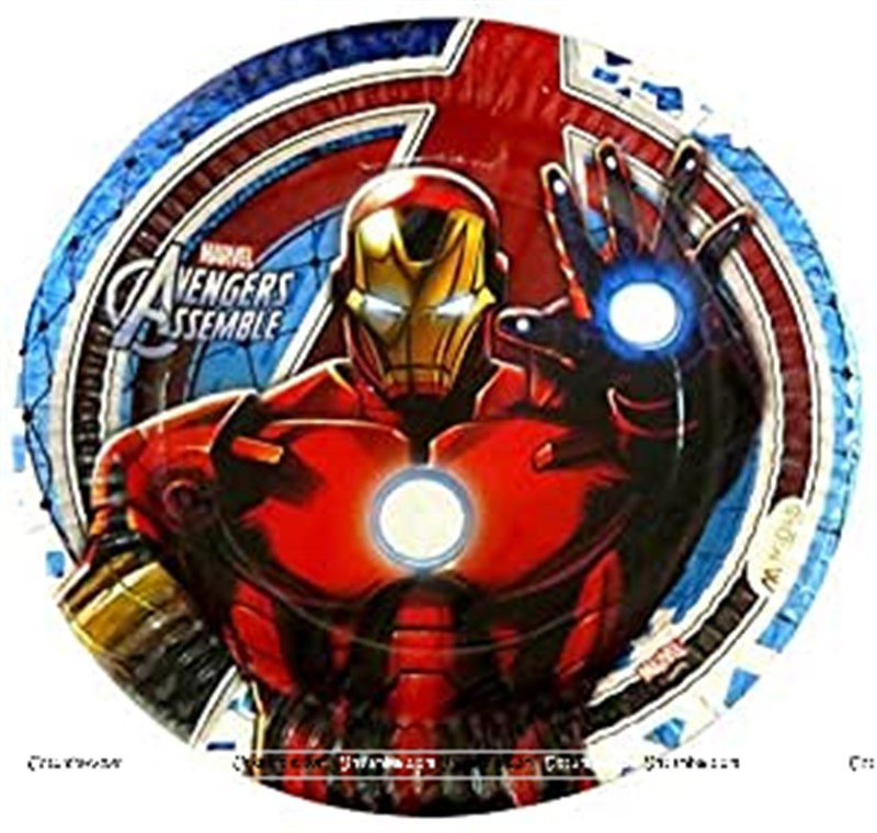 Iron Man Birthday Party Plate