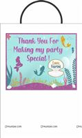 Stickered gift bags - The Little Mermaid Theme Birthday Party
