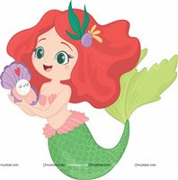 Green Mermaid Poster
