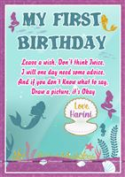 Wish book - The Little Mermaid Theme Birthday Party