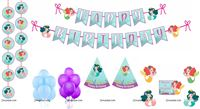 Mermaid theme Super saver birthday decoration kit (Pack of 58 pieces)