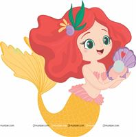 Yellow Mermaid Poster
