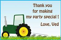 Tractor theme Sticker-ed Gift bags