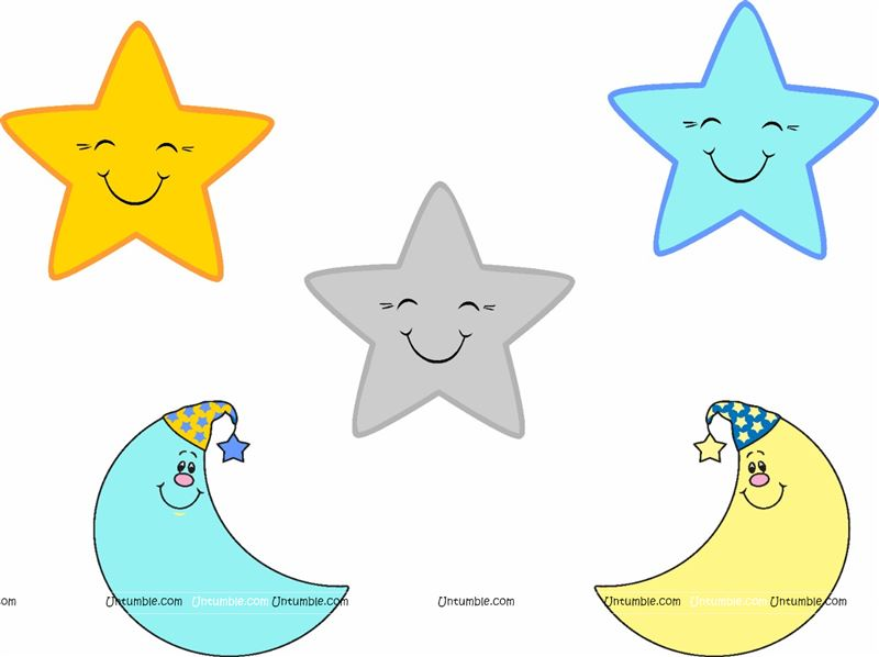 Twinkle Stars poster pack of 5