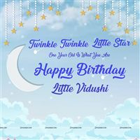 Twinkle Twinkle Blue star Backdrop