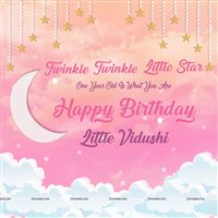 Twinkle Twinkle Pink star Backdrop