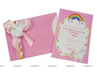 GIrls Pink Invitations
