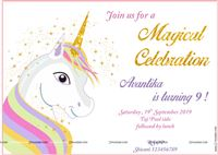 Unicorn Party Invite