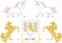 Unicorn poster pack of 5