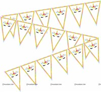 Unicorn theme Buntings (10 ft)