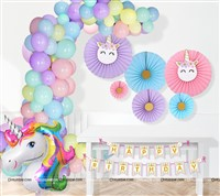 Unicorn Theme Decoration Kit (Pack of 109 pcs)