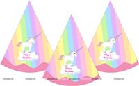 Unicorn Theme Hats (Set of 6)