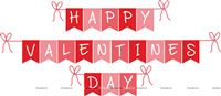 Happy Valentine Bunting