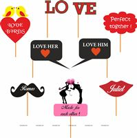 Valentine/Love Photo Props (Set of 9 )