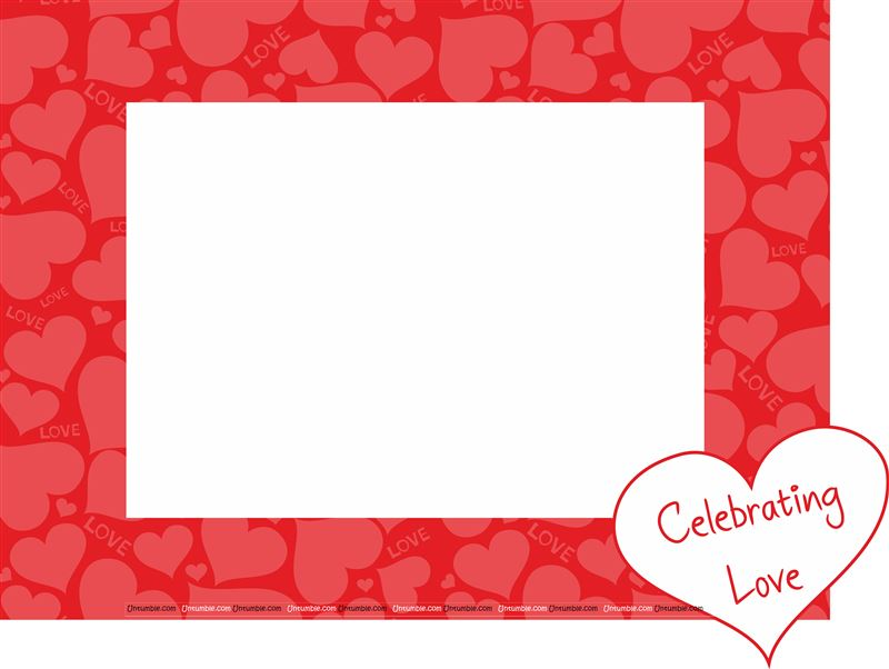 Valentine Heart texture printed Photo Booth