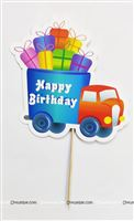 Vehicles Theme Cake Topper
