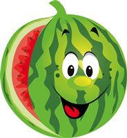 Smiling Watermelon Poster